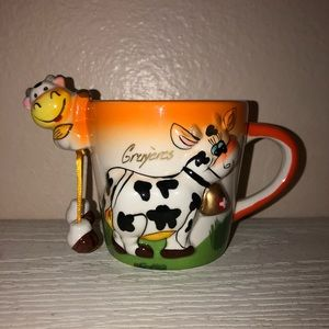 Switzerland 3D Cow Embossed Coffee Mug